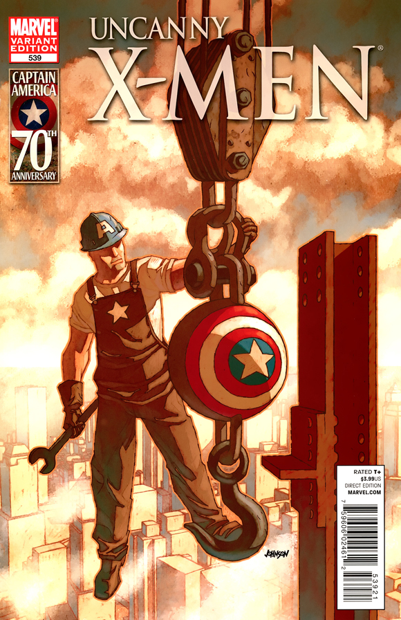 Uncanny_X-Men_539_0001 (2011) (Dave Johnson I Am Captain America Variant)