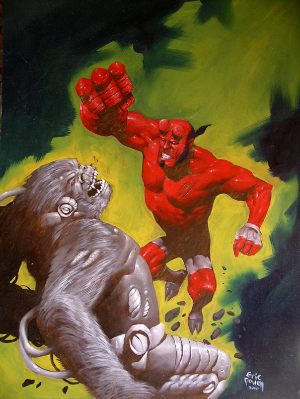 Powell  Hellboy painting