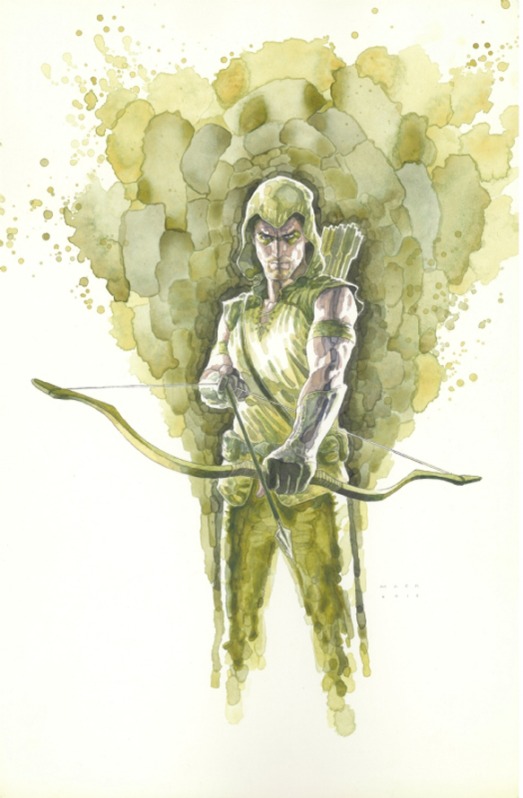 DavidMack-GreenArrow_8_watercolor